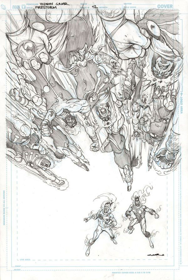 Fury of Firestorm: The Nuclear Men #12 cover penciled by Yildiray Cinar