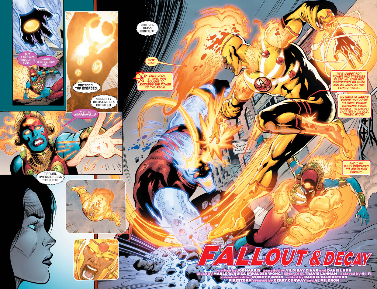 Fury of Firestorm: The Nuclear Men #12 by Joe Harris, Yildiray Cinar, Marlo Alquiza, and Hi-Fi Color