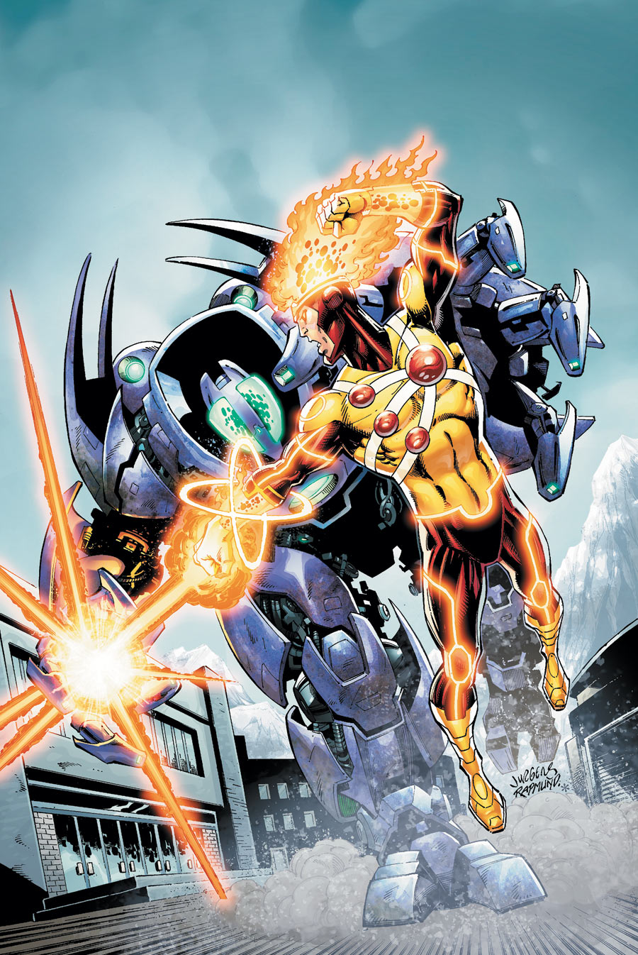 Fury of Firestorm #13 cover by Dan Jurgens and Norm Rapmund