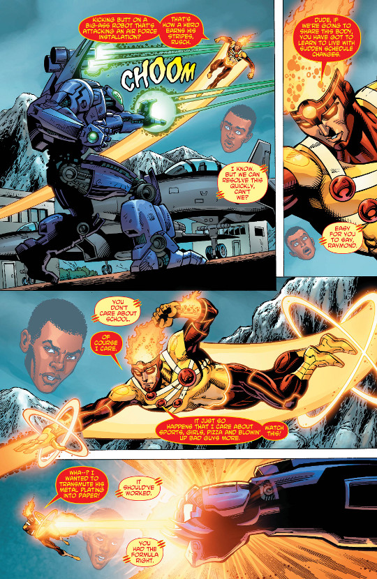 Fury of Firestorm: The Nuclear Man #13 page 4 by Dan Jurgens, Ray McCarthy, and Hi-Fi Color
