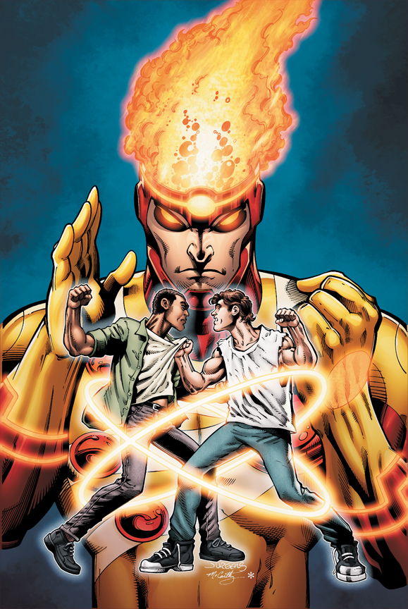 Fury of Firestorm: The Nuclear Man #14 cover by Dan Jurgens, Ray McCarthy, and Hi-Fi