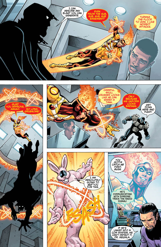 Fury of Firestorm: The Nuclear Man #14 page 4 by Dan Jurgens, Ray McCarthy, and Hi-Fi Color