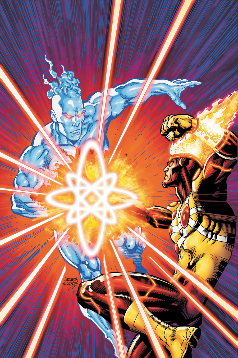Fury of Firestorm The Nuclear Men #15 cover by Dan Jurgens and Ray McCAarthy