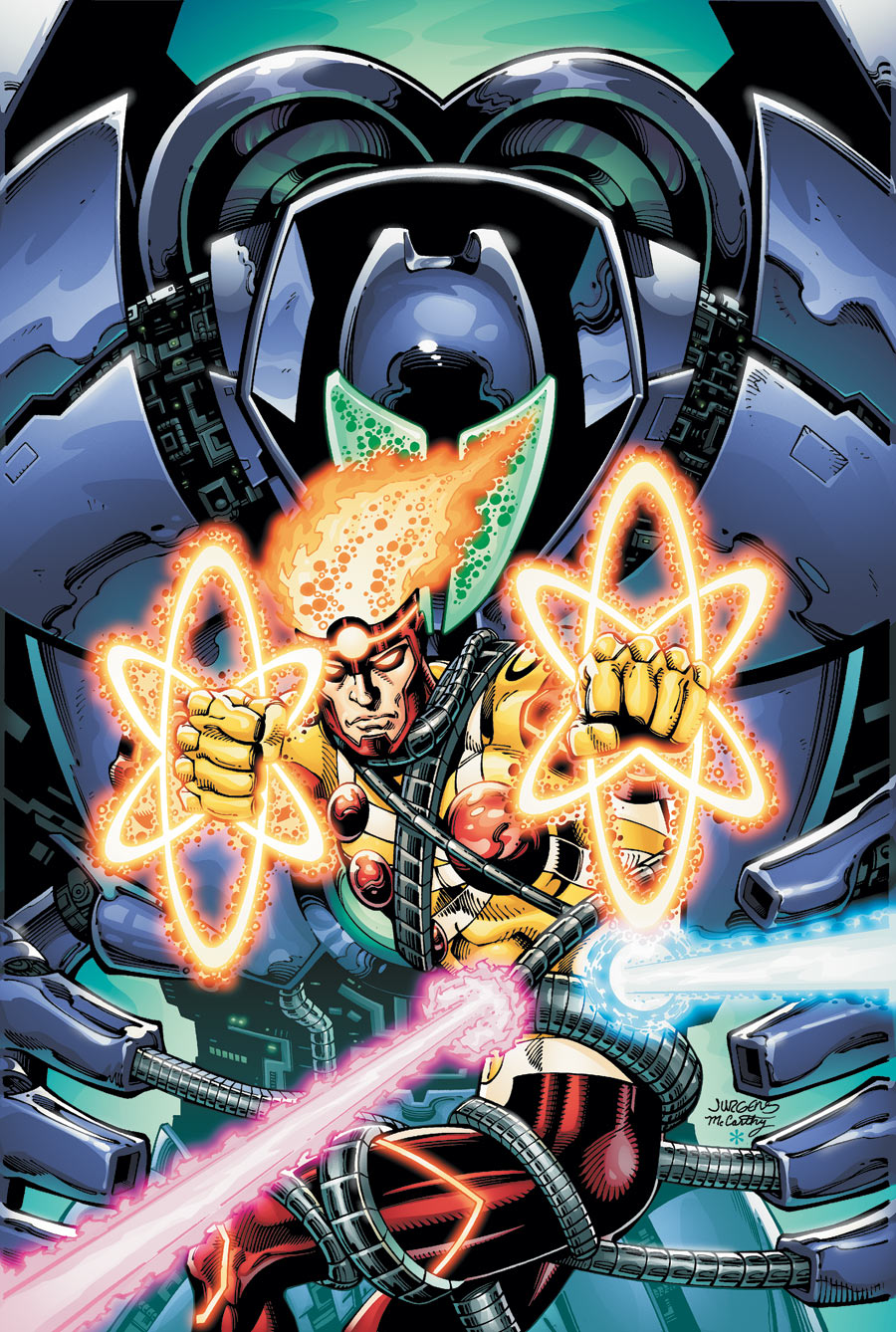 Fury of Firestorm The Nuclear Man #16 cover by Dan Jurgens and Ray McCarthy