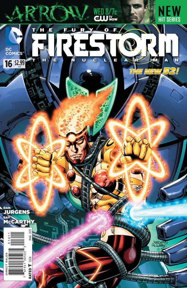 Fury of Firestorm The Nuclear Man #16 cover by Dan Jurgens, Ray McCarthy, and Hi-Fi Color