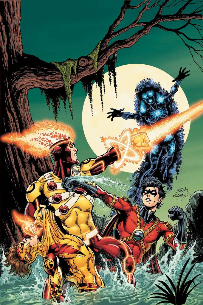 Fury of Firestorm: The Nuclear Man #17 cover by Dan Jurgens, Ray McCarthy, and Hi-Fi