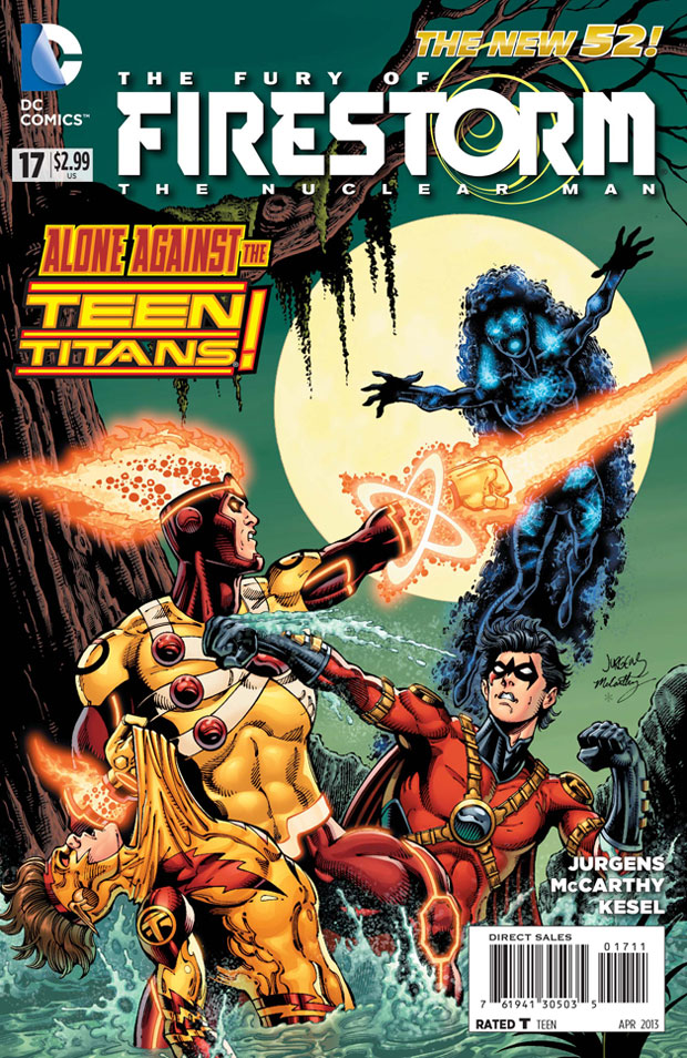 Fury of Firestorm: The Nulcear Man #17 cover by Dan Jurgens, Ray McCarthy, and Hi-Fi Color