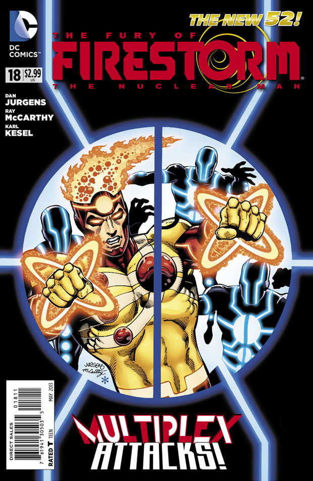 Fury of Firestorm The Nuclear Man #18 cover by Dan Jurgens, Ray McCarthy, and Hi-Fi Color