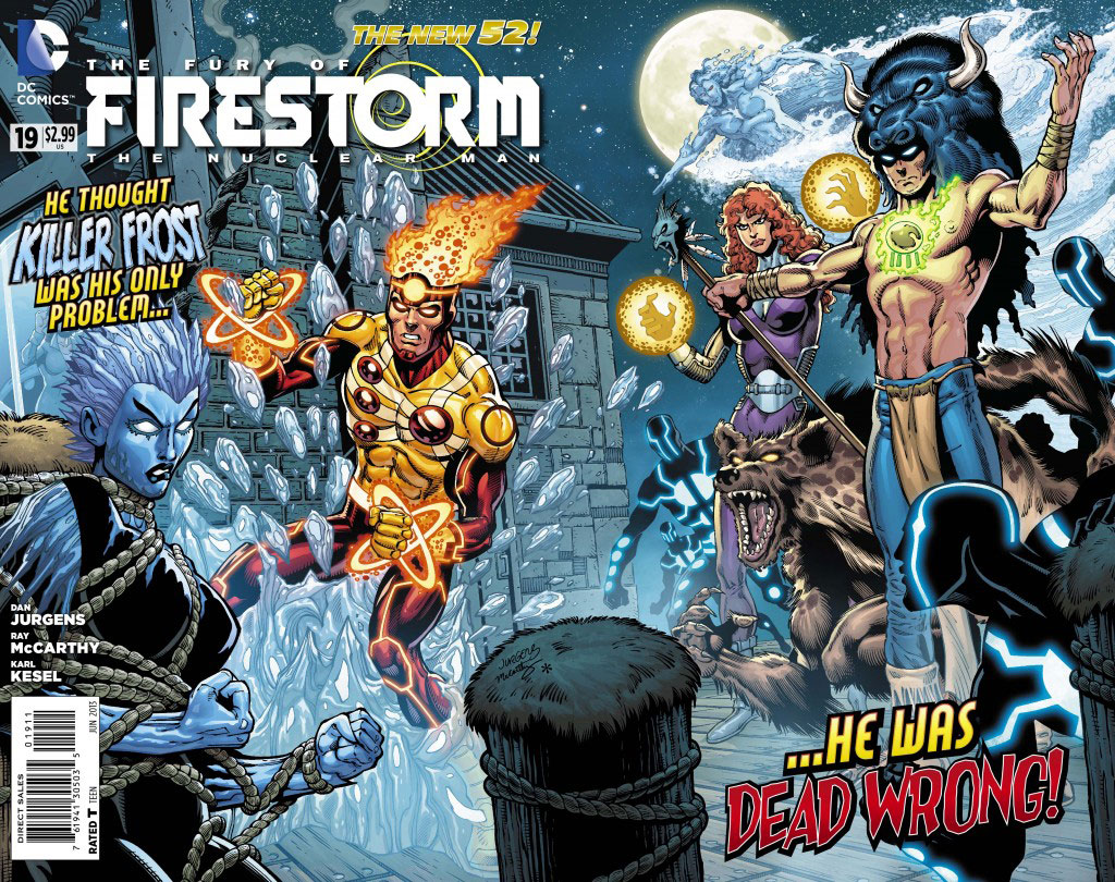 Fury of Firestorm #19 cover by Dan Jurgens, Ray McCarthy, and Hi-FI