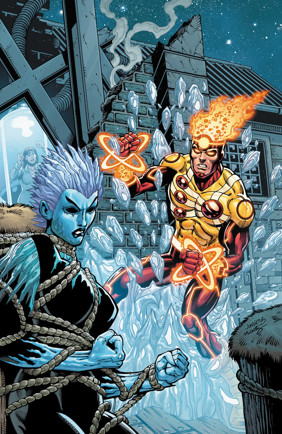 Fury of Firestorm The Nuclear Man #19 cover by Dan Jurgens, Ray McCarthy, and H-Fi Color