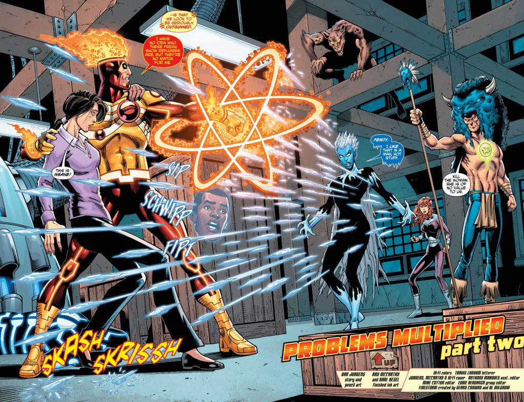 Fury of Firestorm #19 by Dan Jurgens, Ray McCathy, Karl Kesel, and Hi-Fi