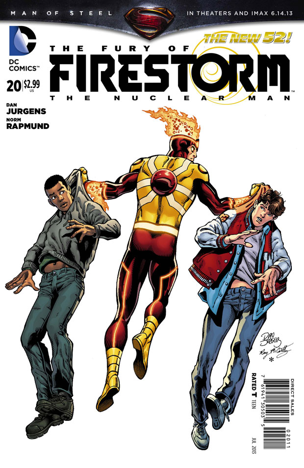 Fury of Firestorm the Nuclear Man #20 cover by Dan Jurgens, Ray McCarthy, and Hi-Fi Color