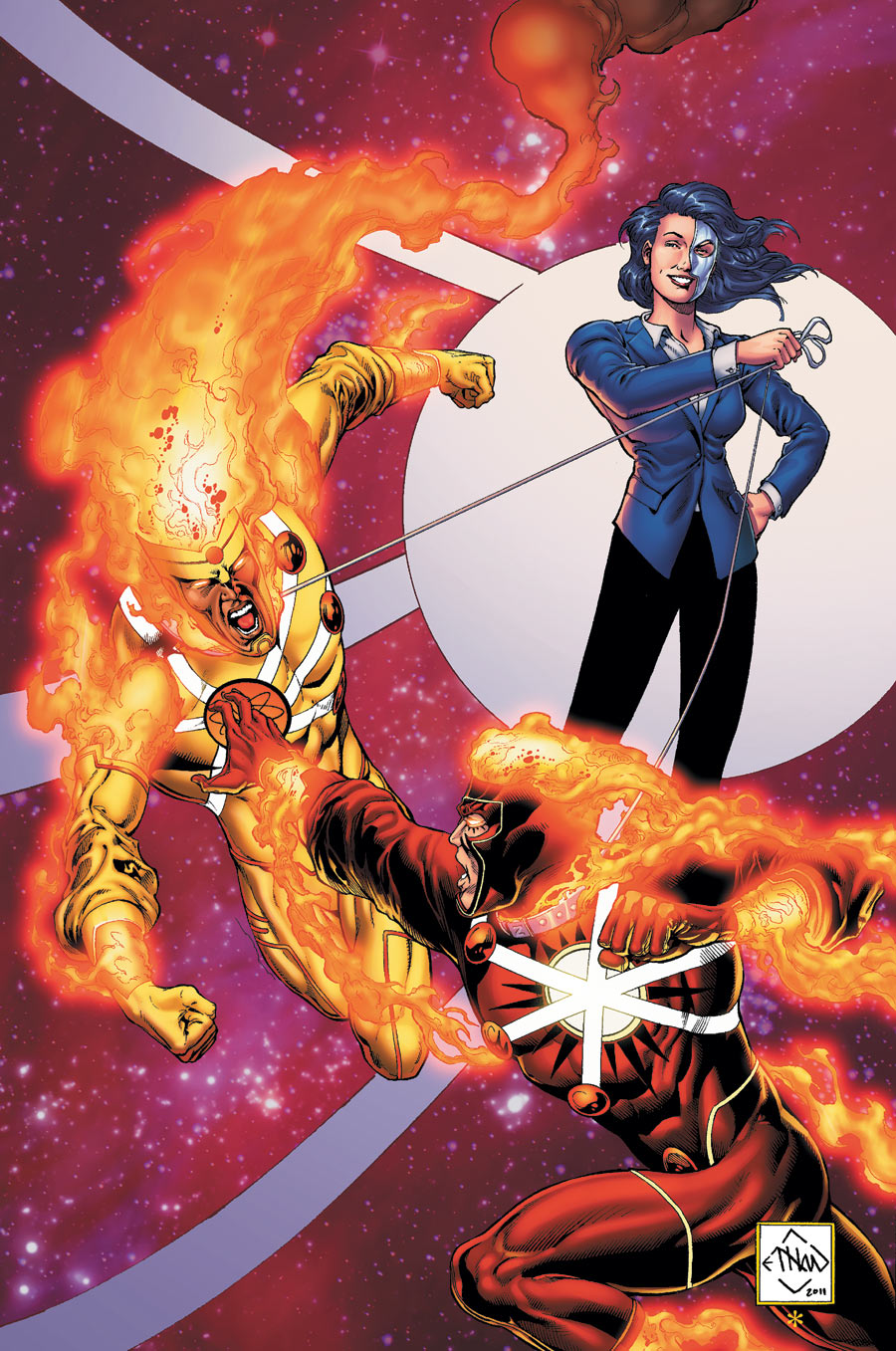 The Fury of Firestorm: The Nuclear Men #5 cover by Ethan Van Sciver