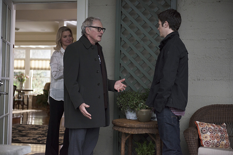 The Flash with Firestorm - Victor Garber as Professor Martin Stein with Grant Gustin as Barry Allen