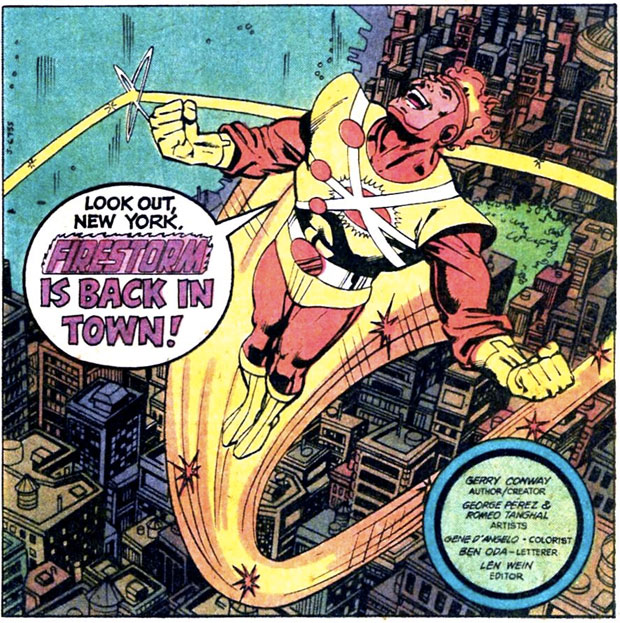 Firestorm in Flash #289 by Gerry Conway and George Perez