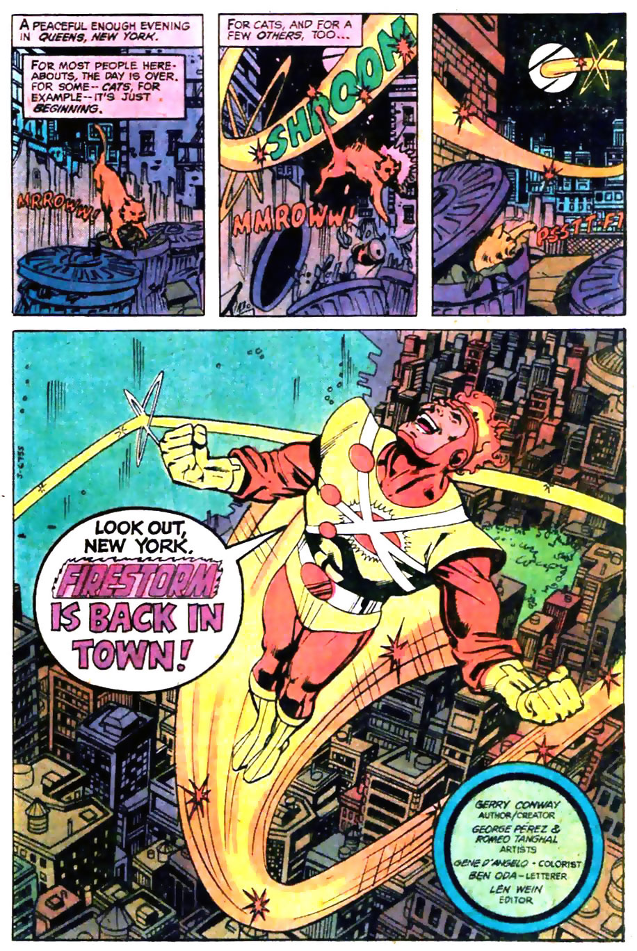 George Perez Firestorm art from The Flash #289