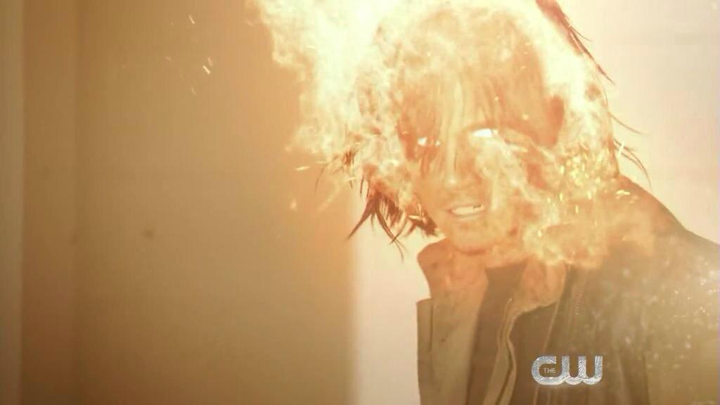 Robbie Amell as Firestorn on The Flash mid-season finale