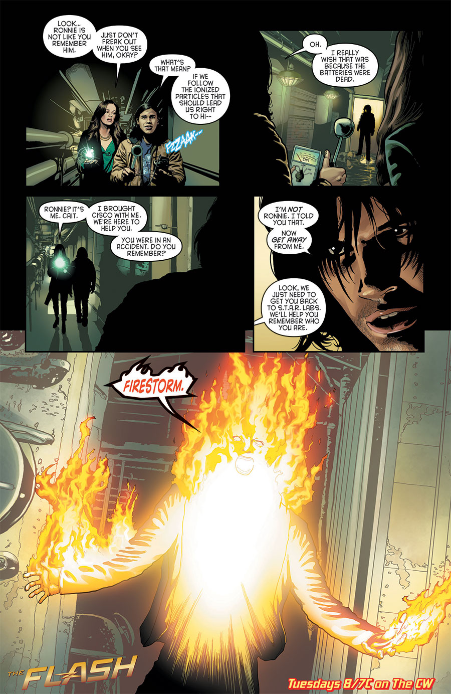 The Flash episode 09 comic promotion featuring Firestorm