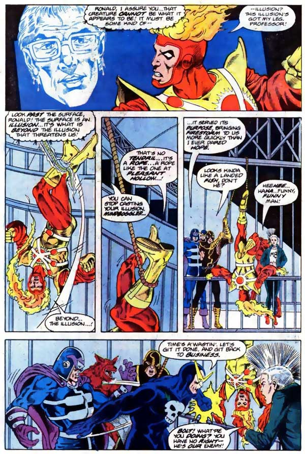 Fury of Firestorm #46 - Firestorm and Blue Devil team-up