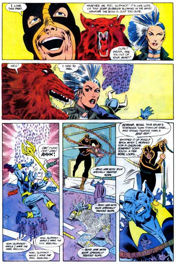 Fury of Firestorm #47 - Firestorm and Blue Devil team-up