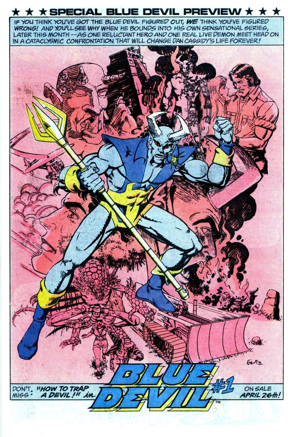 Blue Devil #1 advertisement by Paris Cullins from Fury of Firestorm #24
