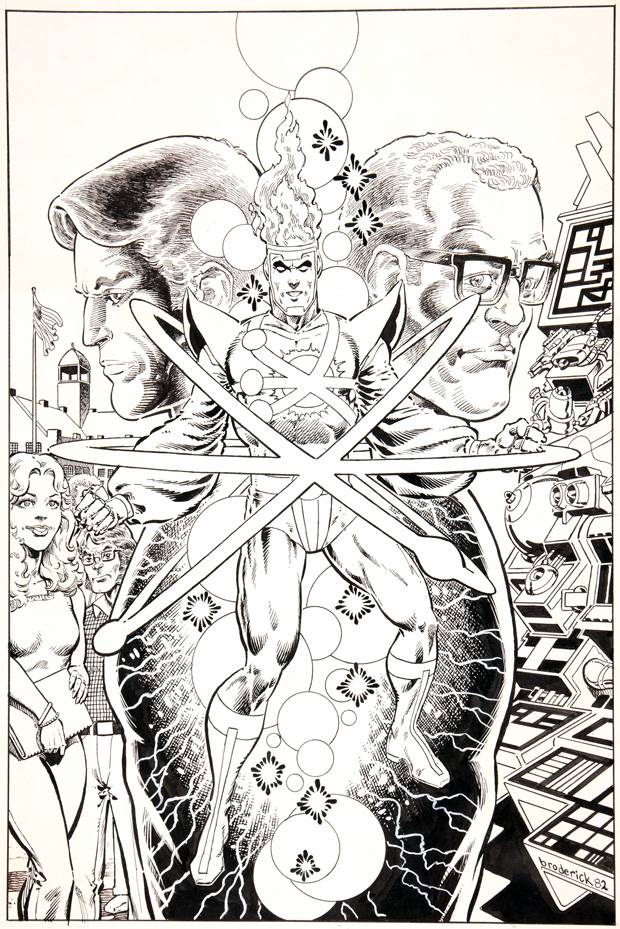 Fury of Firestorm #1 alternate cover by Pat Broderick