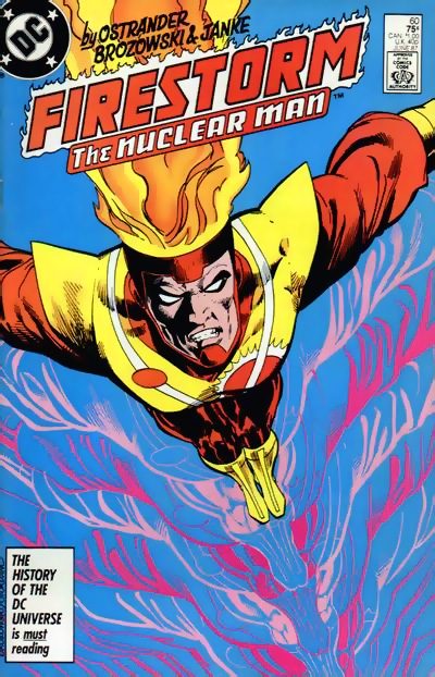 Fury of Firestorm #60 cover by Joe Brozowski and Dick Giordano