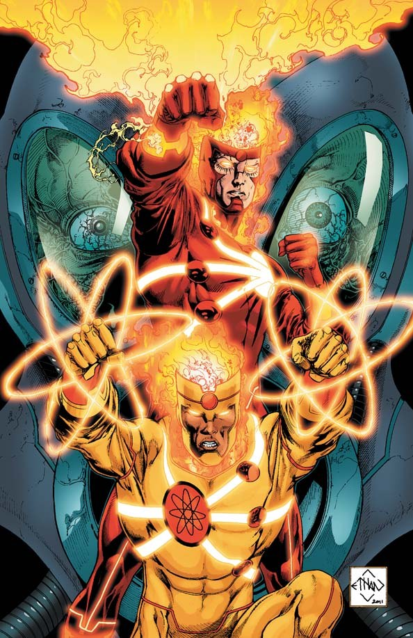 Fury of Firestorm #3 cover by Ethan Van Sciver