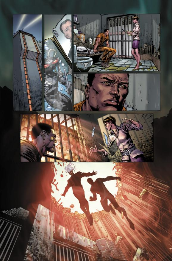 Forever Evil #1 Preview featuring Deathstorm