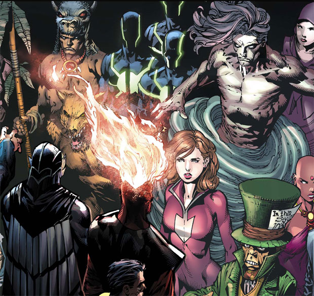Firestorm Rogues in Forever Evil #1 by David Finch