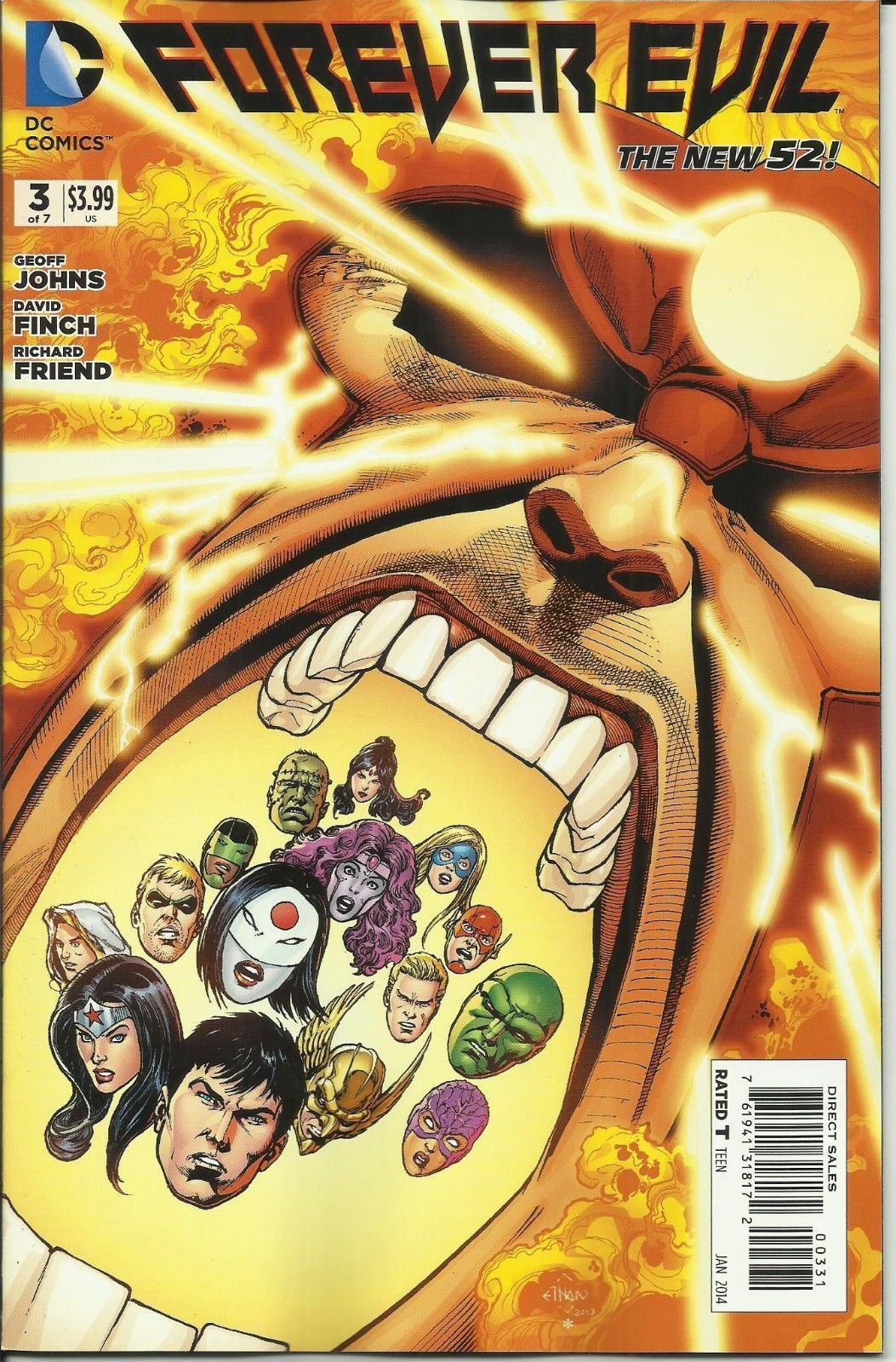 Forever Evil #3 variant cover by Ethan Van Sciver featuring Firestorm