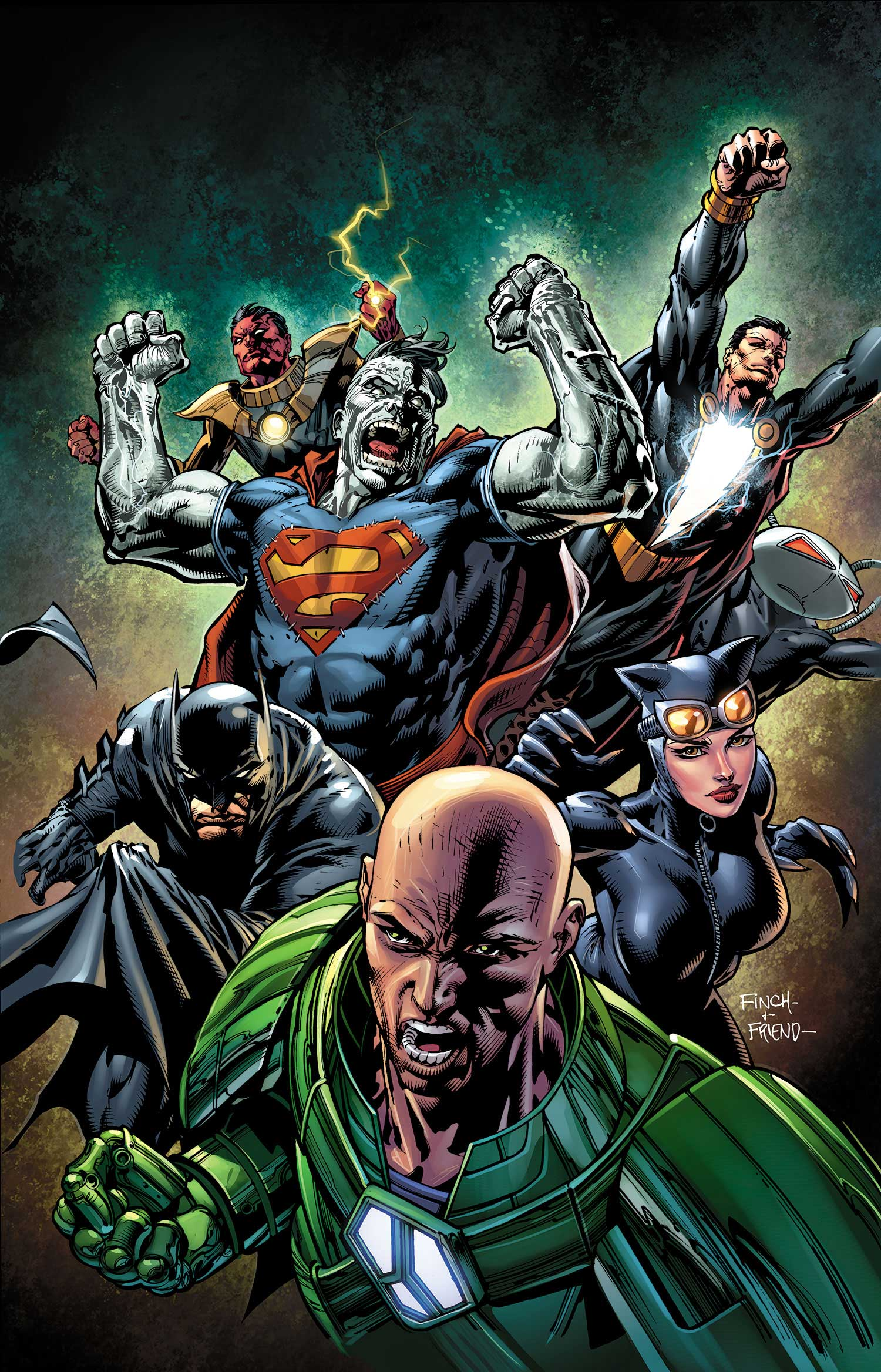 Forever Evil #5 cover by David Finch and Richard Friend