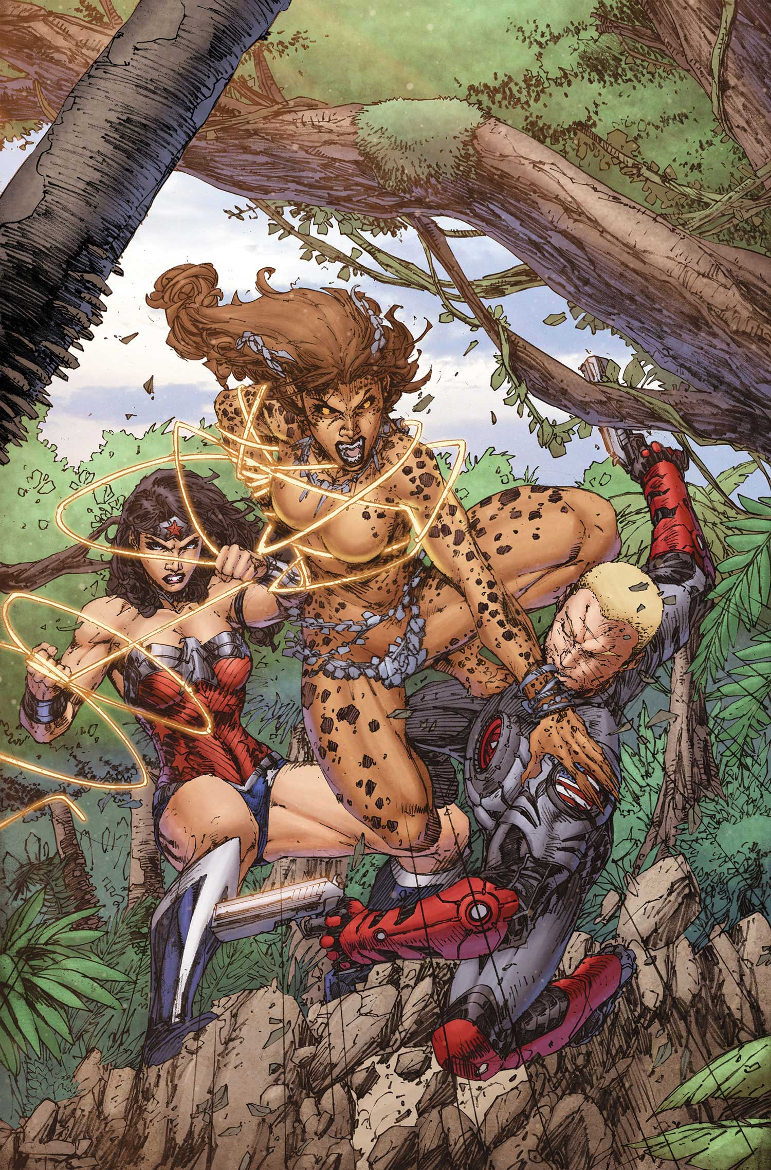 Forever Evil A.R.G.U.S. #4 cover by Eddy Barrows and Eber Ferreira