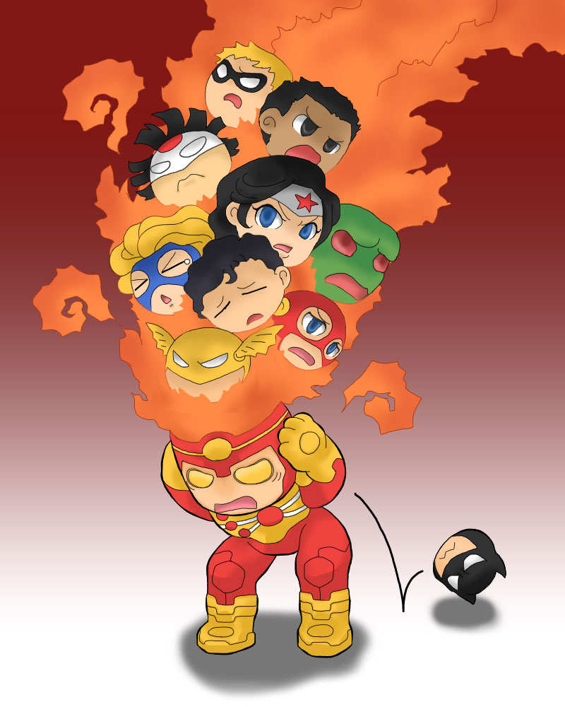 Adorable Firestorm from Forever Evil by Nekemeko