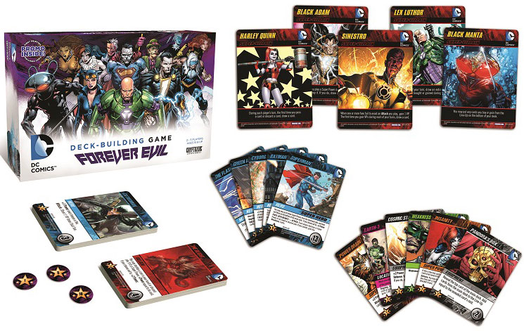 DC Comics Deck Building Game Forever Evil by Cryptozoic