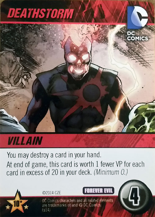 Deathstorm DC Comics Deck Building Game Forever Evil by Cryptozoic