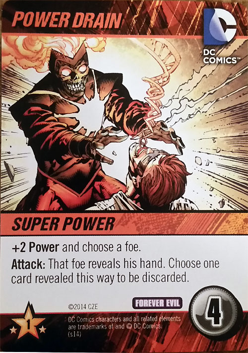 Deathstorm Power Drain DC Comics Deck Building Game Forever Evil by Cryptozoic