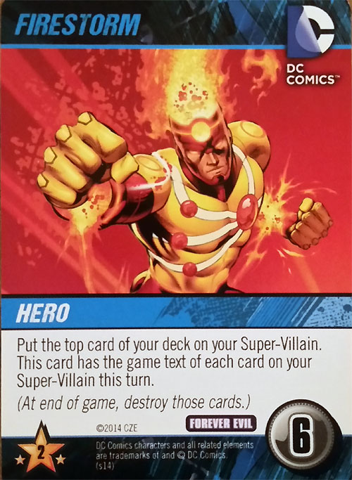 Firestorm DC Comics Deck Building Game Forever Evil by Cryptozoic