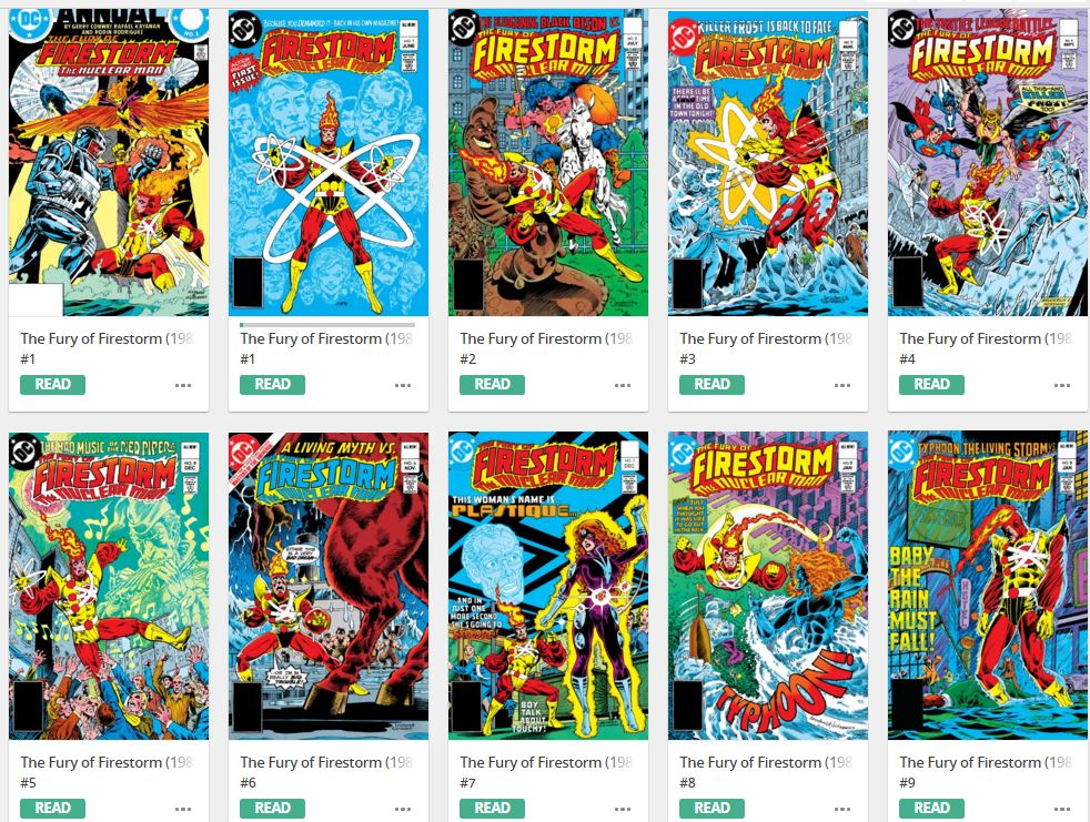 Fury of Firestorm digitally on Comixology