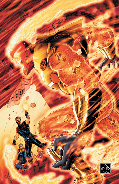 Fury of Firestorm #2 cover by Ethan Van Sciver