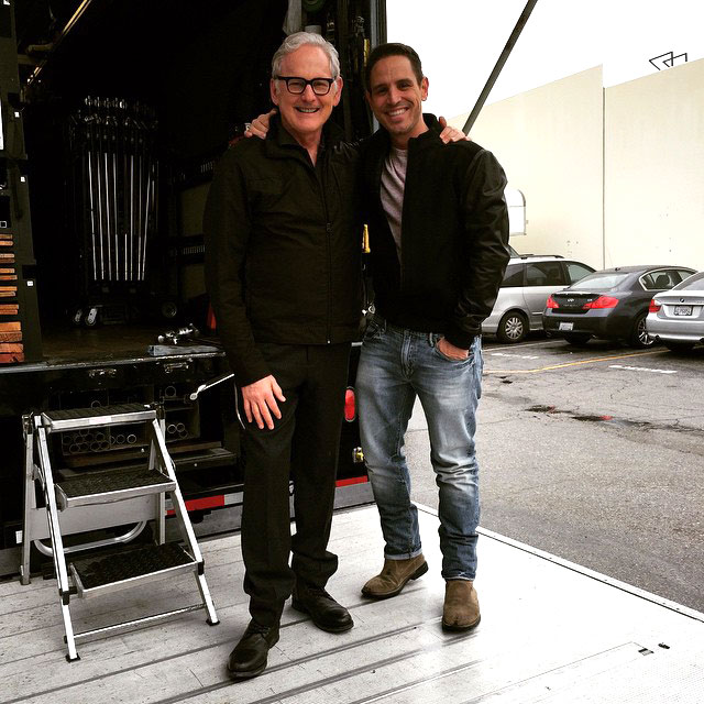 Victor Garber as Professor Martin Stein behind the scenes on The Flash