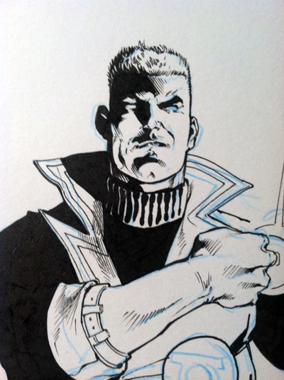 Guy Gardner from Justice League International by Yildiray Cinar and Ethan Van Sciver