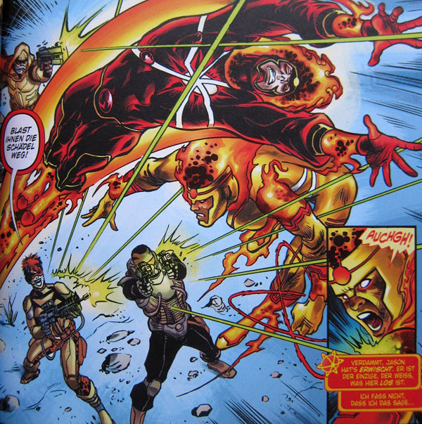 German version of The Fury of FIrestorm The Nuclear Men by Ethan Van Sciver, Gail Simone, and Yildiray Cinar