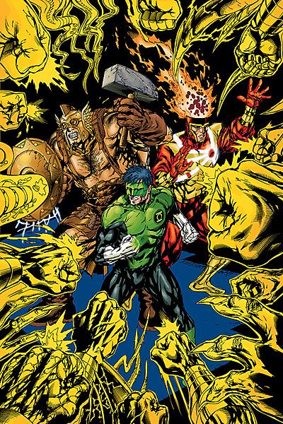 Green Lantern Corps #57 featuring Firestorm