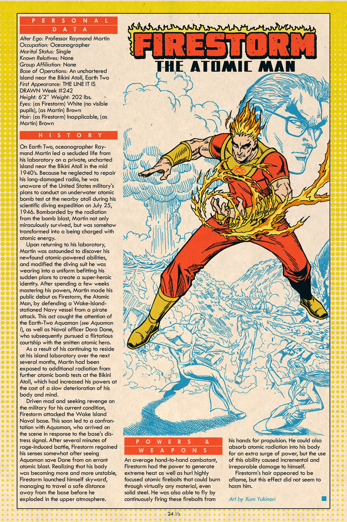 Golden Age Firestorm Who's Who by Xum Yukinori