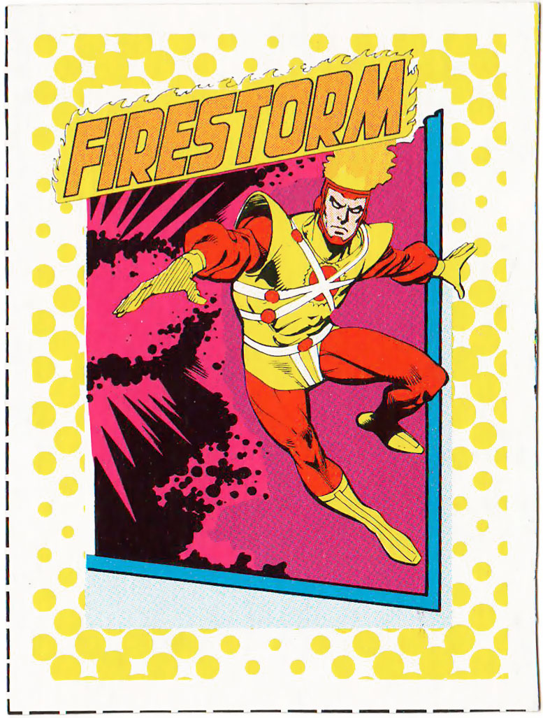 Firestorm 1987 Great Heroes trading card