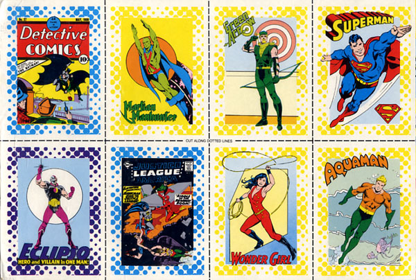 Great Heroes trading cards from 1987