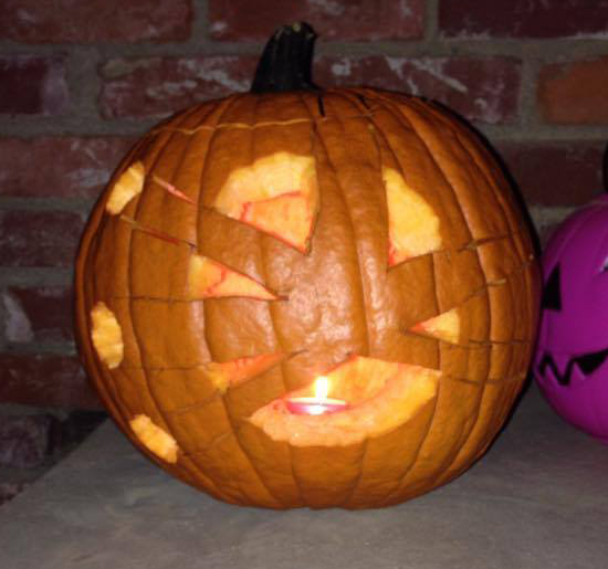 Aaron Brother Head Moss Firestorm Pumpkin