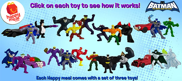 McDonalds Happy Meal Batman The Brave and the Bold Firestorm