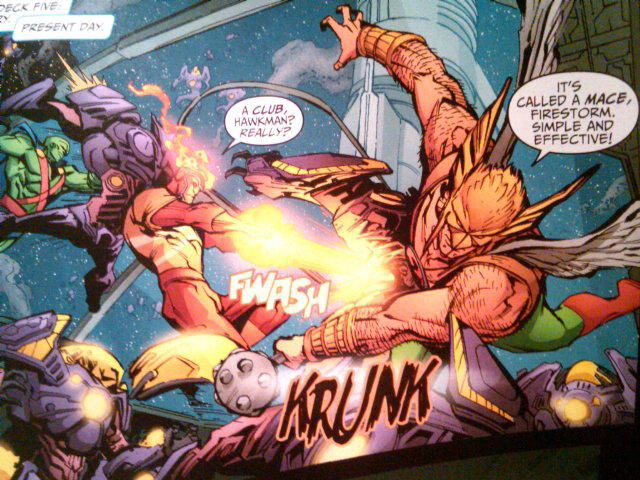 Hawkman and Firestorm from DC Universe Online Legends #4